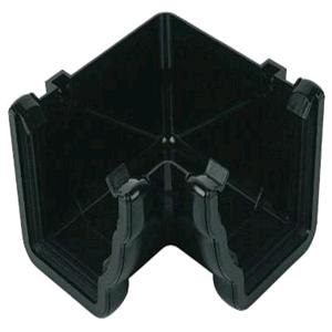 Floplast Niagara Square Gutter 90deg Internal Angle Black