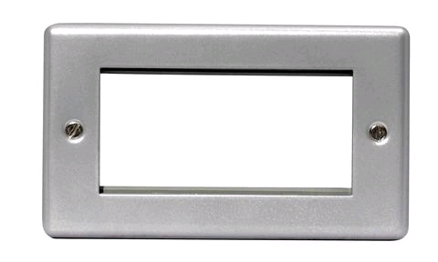 BG Euro Module 4 Gang Metal Clad Front Plate