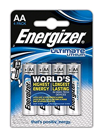 Energizer Battery AA Lithium Ultimate LR6 1.5Volt 4pk