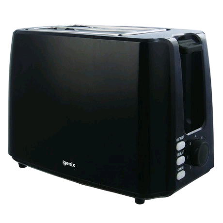 Igenix 2 Slice Toaster Black