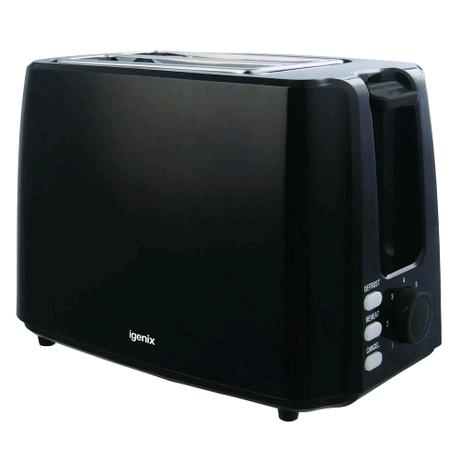Igenix 2 Slice Black Toaster