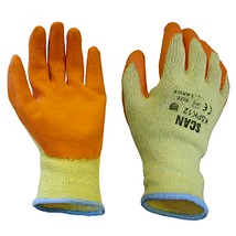 Scan Knitshell Orange Palm Latex Gloves