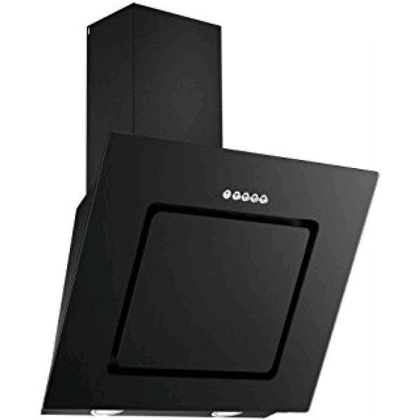 CDA 60cm Angled Glass Extractor Black Touch Controls 3 Speed