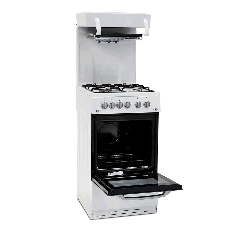 Montpellier WHITE SINGLE CAVITY 50CM EYE LEVEL GAS COOKER