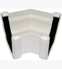 Floplast Niagara Square Guttering 135° Internal Angle White
