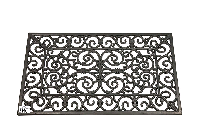 Dandy Wrought Iron Rectangle Large Heavy Duty Outdoor Mats 75x45cm