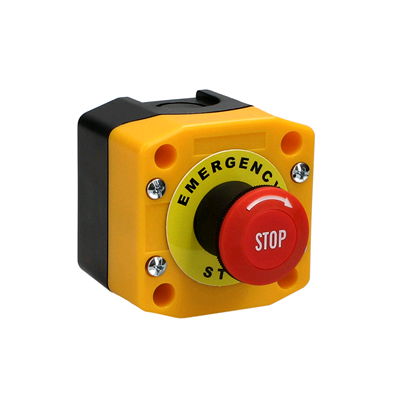 CED Red Mushroom Push Button 240v Lock IP65