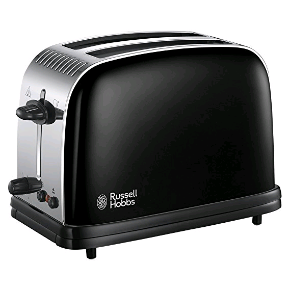 Russell Colours Plus 2 Slice Toaster Jet Black