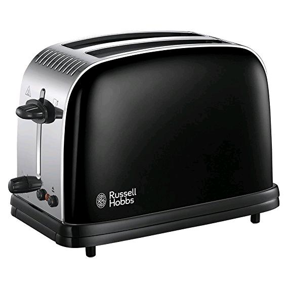 Russell Colours Plus Toaster 2 Slice Toaster Jet Black
