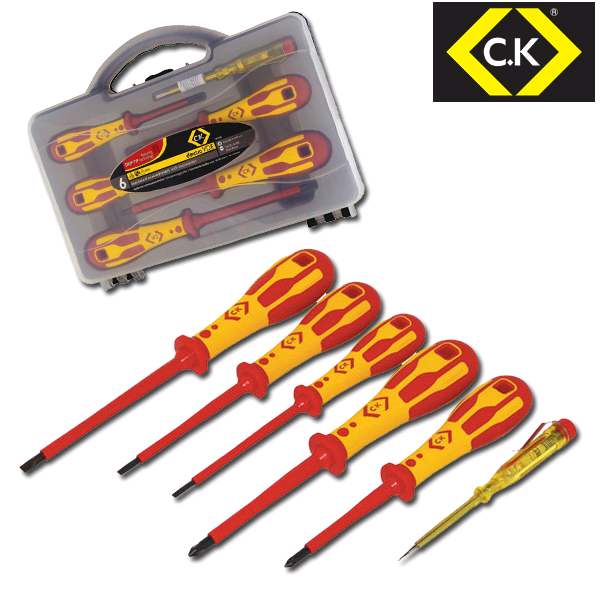 CK Dex VDE Screwdriver SLP/PZD (Set Of 6) Glow in Dark