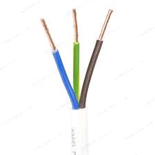 White Flex 1.5mm 3Core Heat Resistant (per mtr)