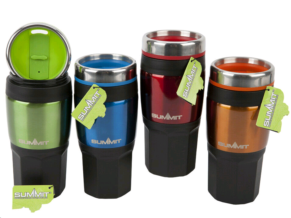 SUMMIT 7031166 Insulated Drinks Mug 475ML Assorted colours