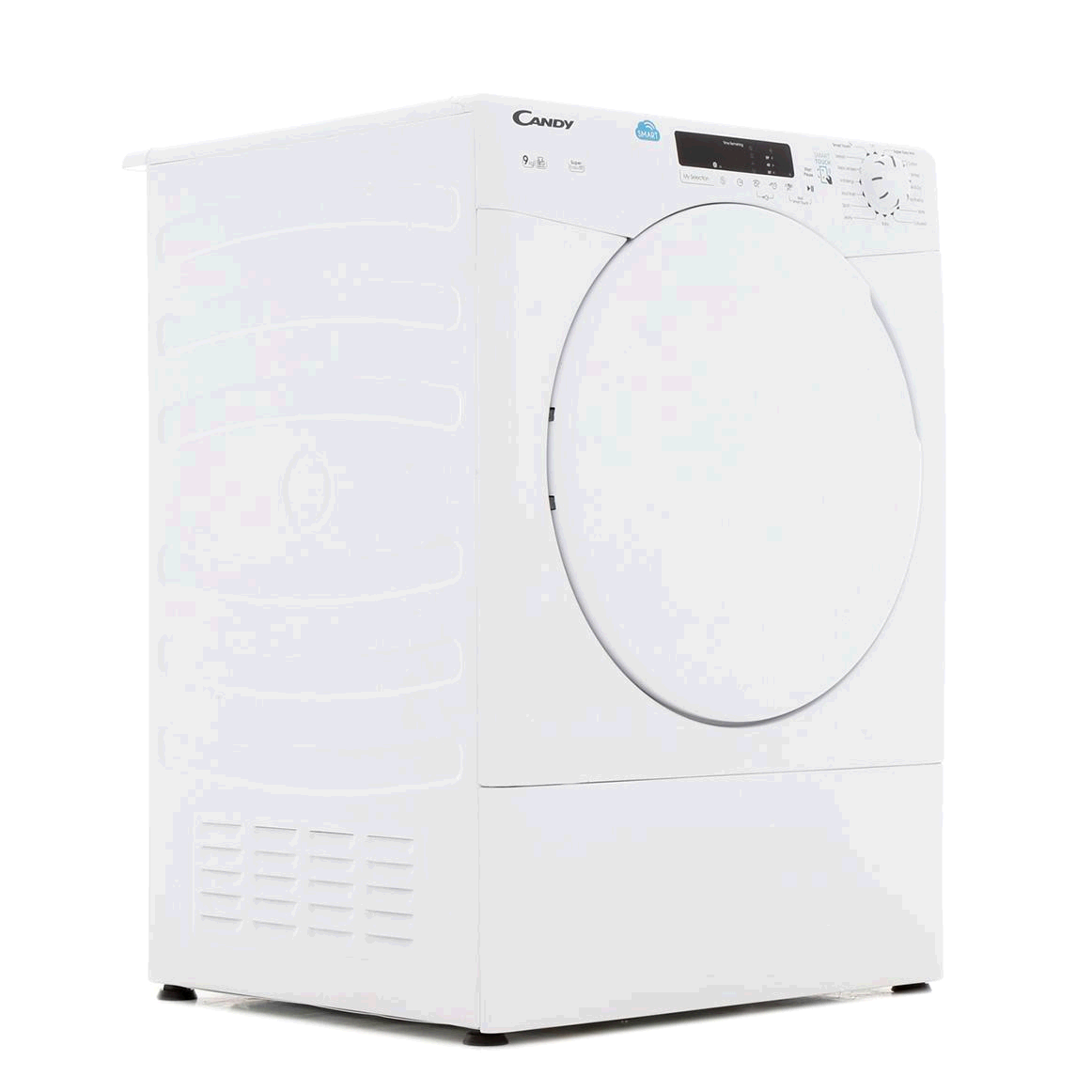 Hoover Candy Tumble Dryer Vented Sensor Dry9KG  H85 W60 D60 White with White Door