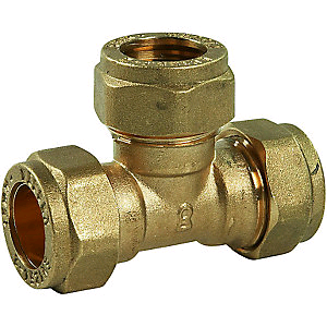 Copper Equal Tee 15mm Compression
