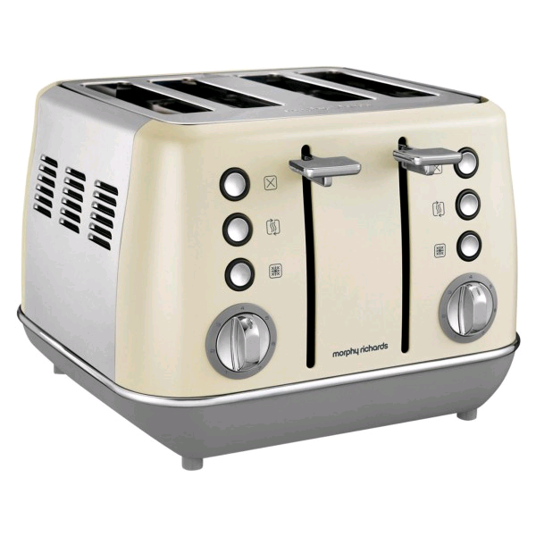 Morphy Richards Evoke 4 Slice Toaster Cream