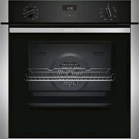 Neff Built-In Electric Single Oven 71ltr in Stainless Steel c/w Slide & Hide Door