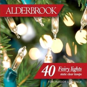 Alderbrook AK543GC 40 Shadeless Fairy Lights Set Clear