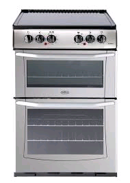 Belling Enfield Cooker Ceramic Double Oven Silver