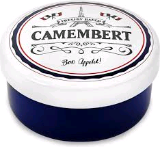 DMD DD17BSA01 CERAMIC CAMEMBERT BAKER WITH HANDLE AND EMBOSSED TEXT