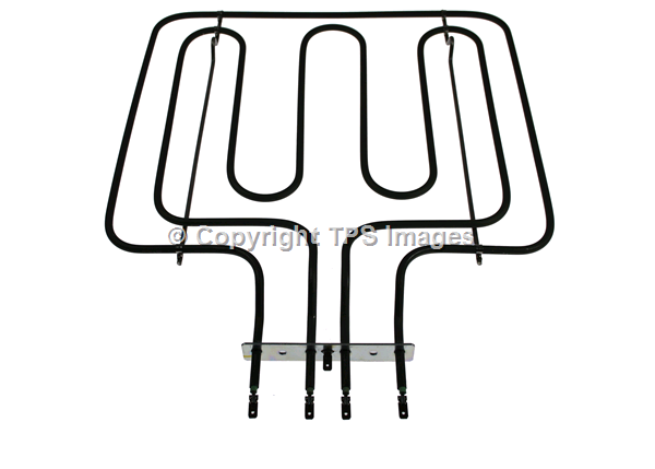 Dual oven and grill element