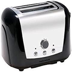 Morphy 2 Slice Toaster Stainless and Black