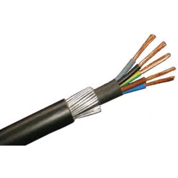 SWA Cable 2.5mm Armoured Cable 5core (per mtr)