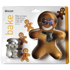 DEXAM 17848966 MAKE AND BAKE GINGERBREAD MAN CUTTER SET X9